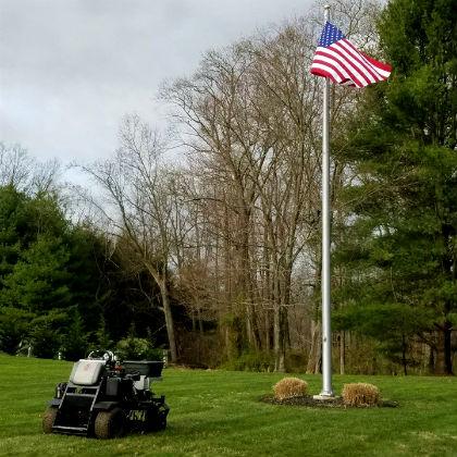 harford county aeration american flag